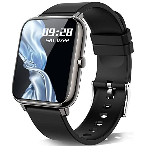 KALINCO Smartwatch, Smartwatch Uomo con Cardiofrequenzimetro, Orologio da Donna per Il Sonno Calorico Smartwatch con Monitor della Pressione Sanguigna e Dell'ossigeno nel Sangue, per Android iOS