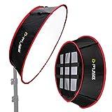 Kamerar D-Fuse Trapezoid LED Light Panel Softbox: 11.5'x11.5' Opening, Foldable Portable Light...
