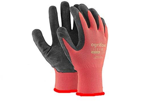 AJS LTD - 24paia di guanti da lavoro, rivestiti in lattice durevole, con salda presa di sicurezza,...