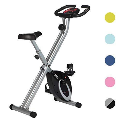 Ultrasport Heimtrainer F-Bike Advanced, LCD-Display, klappbarer Hometrainer, verstellbare Widerstandsstufen, mit Handpulssensoren, faltbarer Fahrradtrainer, für Sportler und Senioren, Fitnessbike