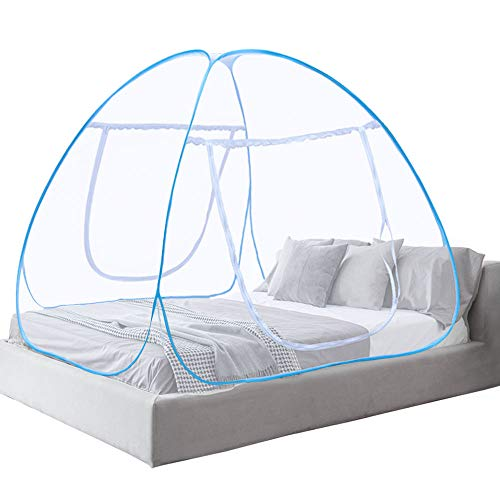 Moustiquaire ciel de lit Pop Up pliable double porte facile à installer...