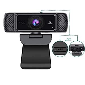 【1080P Full HD Webcam & Light Correction】1080P Full HD Webcam due to Automatic Light Correction and HDR technology, Computer webcam auto-adjusts color, and brightness for natural lighting so you always look your best on web camera even in dim light. ...
