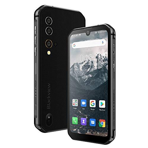 Téléphone Portable Incassable, Blackview® BV9900 Smartphone Débloqué 4G (AI Quad Camera 48MP+16MP, 8Go+256Go, Helio P90, Batterie 4380mAh, Écran Waterdrop 5.84' FHD+) Smartphone Antichoc, NFC/Air/UV