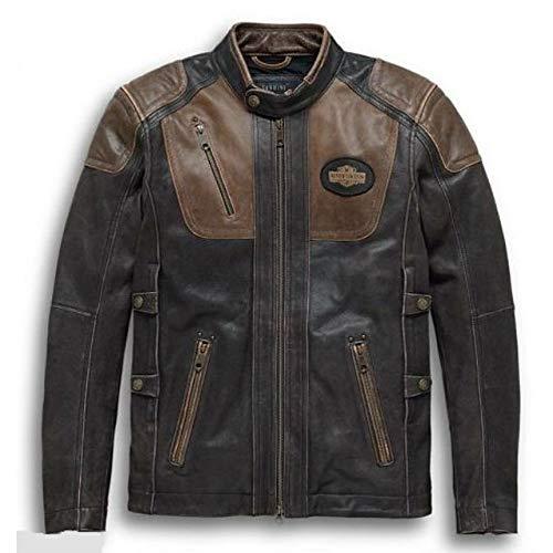 ハーレーダビッドソン メンズ レザー ジャケット Harley Davidson Men's H-D Triple Vent System Trostel Leather Jacket (M)