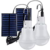 2 Lampe Camping Solaire Portable,TechKen Ampoule Solaire LED Lampe Urgence...