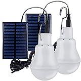 2 Lampe Camping Solaire Portable,TechKen Ampoule Solaire LED Lampe Urgence Solaire Lumière Jardin...