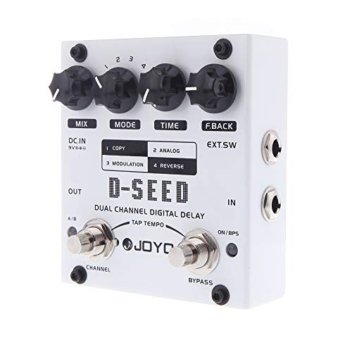 MoreBeauty JOYO D-SEED Dual Channel Digital Delay Guitar Effect Pedal With Four Modes