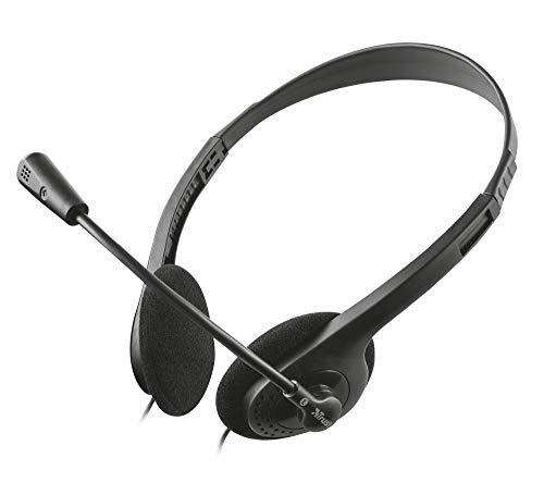 Trust Cuffie con Microfono per PC, senza Controllo Volume, Nero