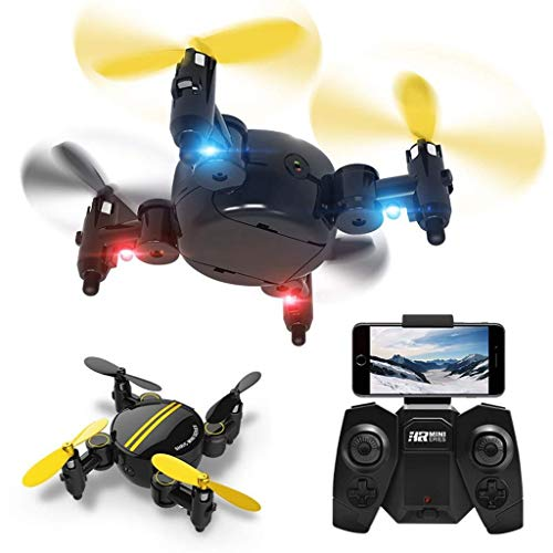 ASMART Drone Mini Folding App Controllo Pressione d'Aria ad Altezza Fissa Telecomando Aircraft HD Aerea della Telecamera intercambiabili Batteria One Button Take off Landing Small Aircraft Ritornando