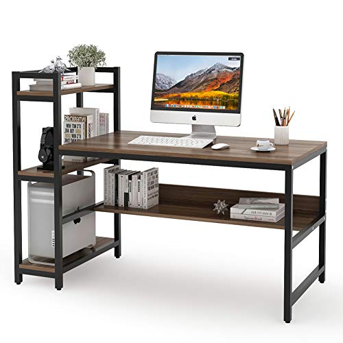 Tribesigns Computer Desk with 4-Tier Storage Shelves, 60 inch Modern...