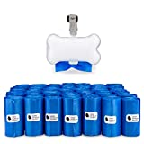 Gorilla Supply Dog Waste Bags with Patented Dispenser and Leash Tie, Blue, Unscented, EPI Additive (meets ASTM D6954-04 Tier 1), 1000 Count