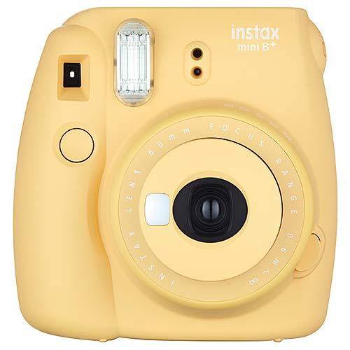 富士フイルムFUJIFILM インスタントカメラ チェキ instax mini8プラス 接写レンズ・純正ショルダーストラップ付き ハニー 60cmから撮影可能、(接写レンズ使用時35cm-50cm) INS MINI 8PLUS HONEY