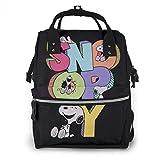 Bolsa de pañales - Happy Snoopy Mommy Baby Bag, multifunción de gran capacidad de viaje mochila de pañales