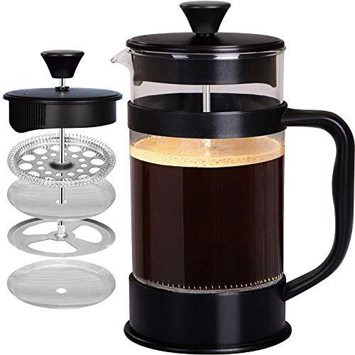 KICHLY - 1 litro / 1000 ml (8 tazze) Caffettiera a presso-filtro (French Press) - Espresso e teiera...