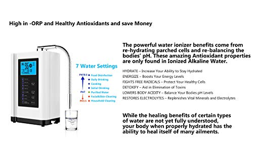 Product Image 4: AlkaDrops Water Ionizer, Water Purifier Machine PH 3.5-10.5 Alkaline Acid Water Machine,Up to -500mV ORP, 6000 Liters Per Filter,7 Water Settings,Auto-Cleaning,Intelligent Voice