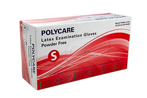 Disposable Medical and Dental, Powder Free Latex Examination Gloves (100, Medium)