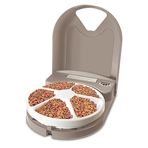 PetSafe 5 Meal Automatic Pet Feeder, Dog and Cat...