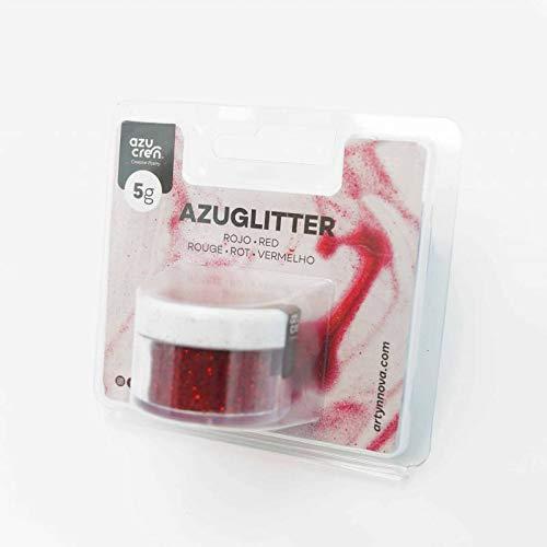 Polvo Comestible - Purpurina Decorativa para Tartas, Galletas y Pasteles - 5 G (Rojo)