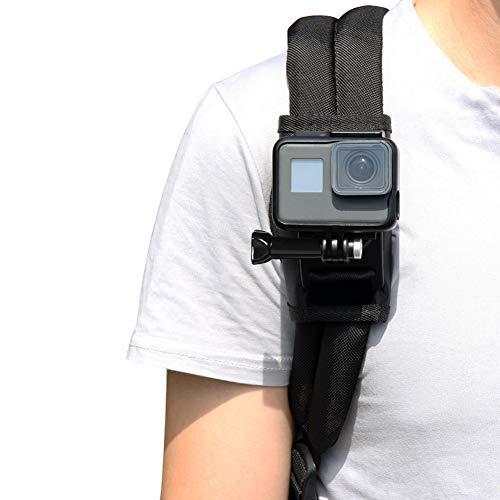 Supporto per zaino per GoPro 7/6/5,Zaino tracolla supporto per fotocamera,360 gradi cinturino regolabile per GoPro Hero/session, DJI OSMO Action,Xiaomiyi, SJCAM