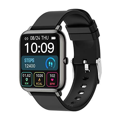 Smartwatch 1.4 Zoll Touch Farbdisplay Fitness Uhr mit Schrittzähler, Pulsuhr, IP67 Wasserdicht Sportuhr mit Schlafmonitor, Stoppuhr Musik Wiedergabe, Fitness Tracker für Damen Herren