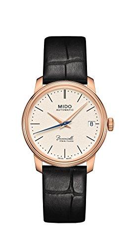 Mido Damen Analog Automatik Uhr mit Leder Armband M0272073626000