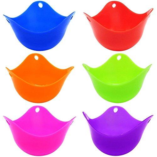 Uova, Cottura Uova in Camicia sempre perfette Colorful Extra spessa in silicone uova molds-set di 6