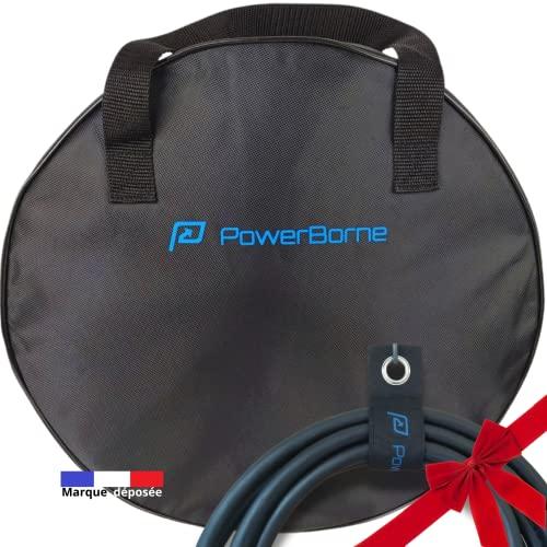 Bolsa de almacenamiento para cable de coche eléctrico o híbrido, cable de carga EV, cable tipo 2, herramientas, enchufe, alargador, adaptador borne con correas de transporte para maletero, garaje