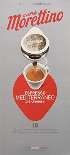 Caffè Morettino Cialde Espresso Mediterraneo Cremoso Tostatura Scura - 12 Confezioni da 18 Cialde Universali [216 Cialde]