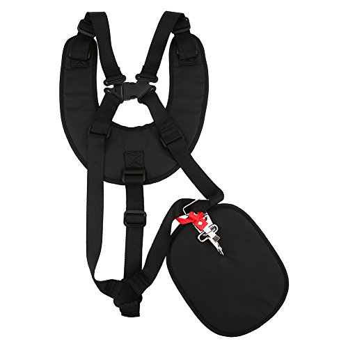 Yosoo - Imbracatura con doppia tracolla, regolabile e comoda, per decespugliatore / tagliaerba