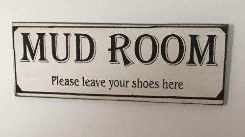 123RoyWarner Mudroom Please Leave Your Shoes Here Wood Sign