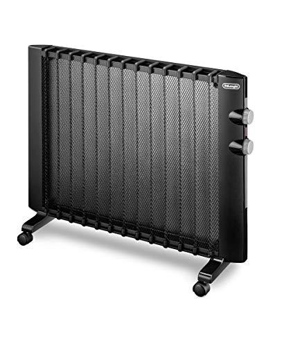 De'Longhi Wärmewelle HMP2000 - Heizgerät mit 2 Heizstufen für Räume bis zu 60 m³, Sicherheitsthermostat, Frostschutzfunktion, Raumthermostat, Kippschutz, schwarz