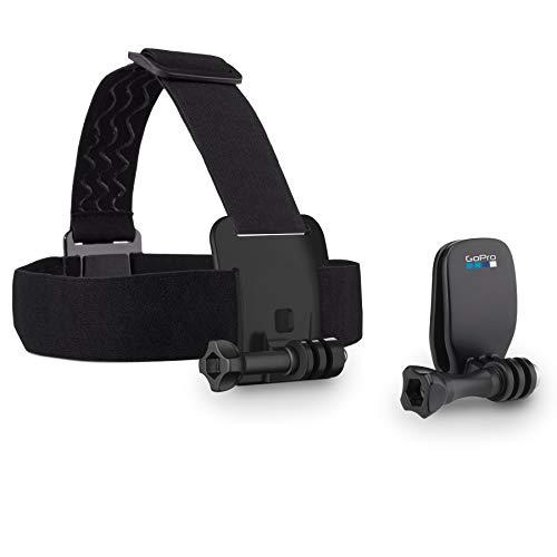GoPro Headstrap+ Quickclip Fissaggio su Cappelli o Oggetti, Nero/Antracite, (ACHOM-001)