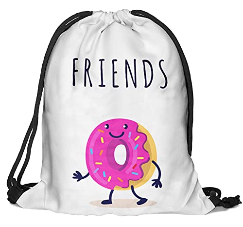 Bolsa de deporte con estampado completo, bolsa de deporte, bolsa de yute, bolsa de deporte, bolsa de fitness, Best Donut [010]