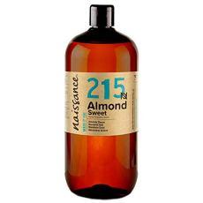 Naissance Mandorle Dolci Puro 1L – Vegan, senza OGM – Ideale per la cura della Pelle e dei Capelli, l'Aromaterapia e come olio da Massaggio di base