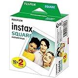 Fujifilm Instax Square Film Pellicola Istantanea, Formato Quadrato, 62x62 mm, ISO 800, Confezione da 20 Foto, Bordo Bianco