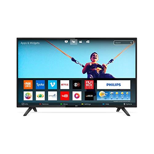 Smart TV LED 32' Philips 32PHG581378 HD Conversor Digital 2 HDMI 2 USB Wi-fi 60hz - Preta