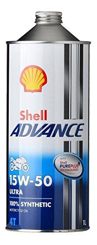 SHELL ADVANCE(シェルアドバンス) 4T ウルトラ モーターサイクルオイル 1L 15W-50(SN) 412233193-1