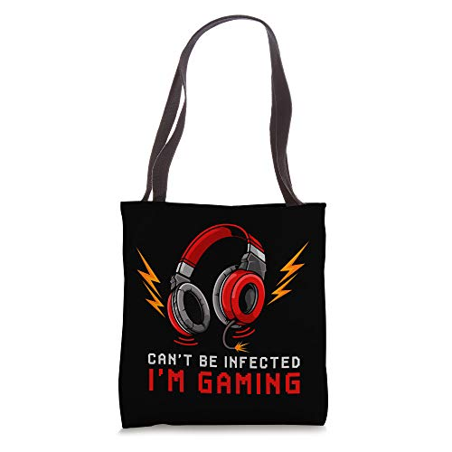 Can't Be Infected I'm Gaming - Gamer Video Games Online Tote Bag
