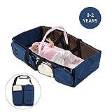 Locisne Berceau de voyage pour bébé portable, berceau pliable sac à...