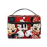 Bolsa de cosméticos Mickey Mouse Minnie Love Pareja Corazón Portátil Bolsa de maquillaje de viaje Organizador de cosméticos Multifunción Neceser de almacenamiento
