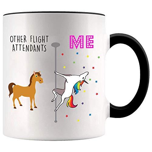 YouNique Designs Flight Attendant Coffee Mug, 11 Ounces,...