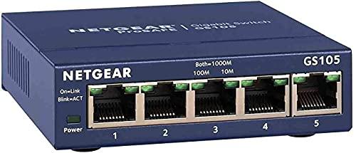 NETGEAR Switch Ethernet 5 porte Unmanaged GS105GE,...