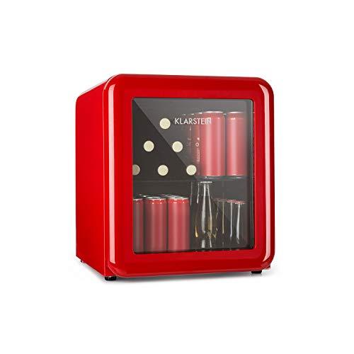 Klarstein PopLife - Frigorifero per Bevande, Minibar, 0-10 °C, 39 dB, Ecologico, Porta con Doppio...