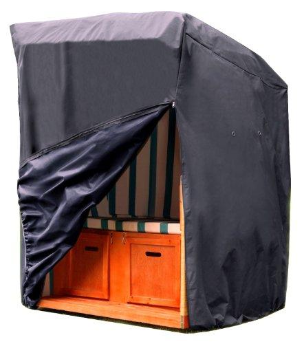 Kronenburg Schutzhülle Strandkorb aus 420 D Oxford Gewebe - Abdeckung für Gartenmöbel