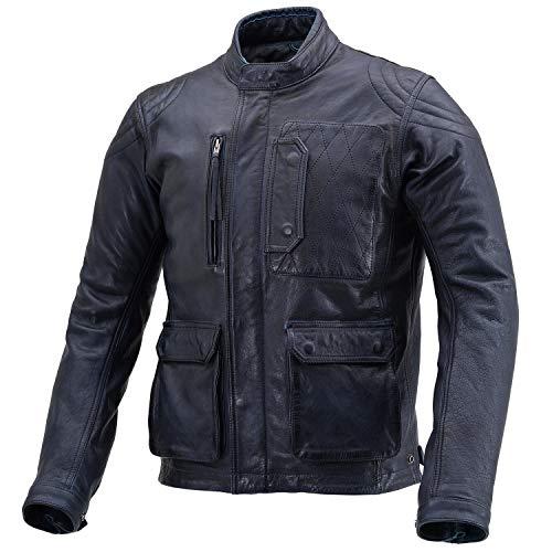デイトナ バイク用 レザー ジャケット Lサイズ(メンズ) ネイビー 春秋冬 スクランブラージャケット DL-501 17832