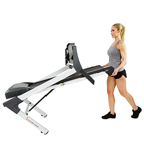 Sunny Health & Fitness SF-T7515 Smart Treadmill with Auto Incline, Sound System, Bluetooth and Phone Function 4