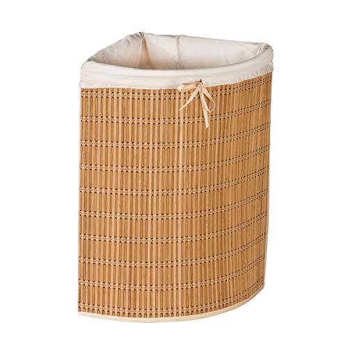 Honey-Can-Do International Wäschekorb, Bambus / Korbweide (HMP-01618)