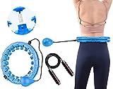 Hula-Hoop, Einstellbar Hula Hoop Gymnastik Kreis mit Massagenoppen 360°Surround Massage, Hula Hoop Reifen...