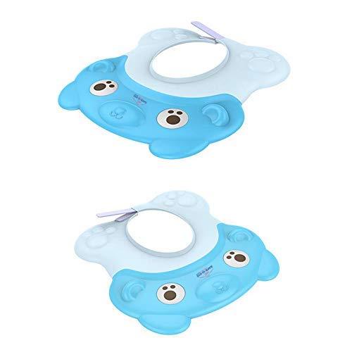 Safe-O-Kid Shampoo Hat/Cap for Kids, No Tears & Adjustable, Blue