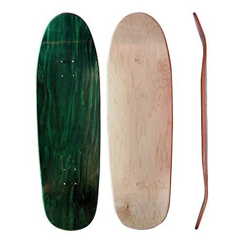 Skateboard Collective 9' Shaped Blank Skateboard Deck Random Top/Natural Bottom, Self-Customizable Skateboard Deck, 7-Ply Maple Construction, Random Topsheet Color